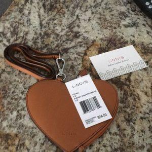 Lodis Italian leather exterior coin  / card holder
